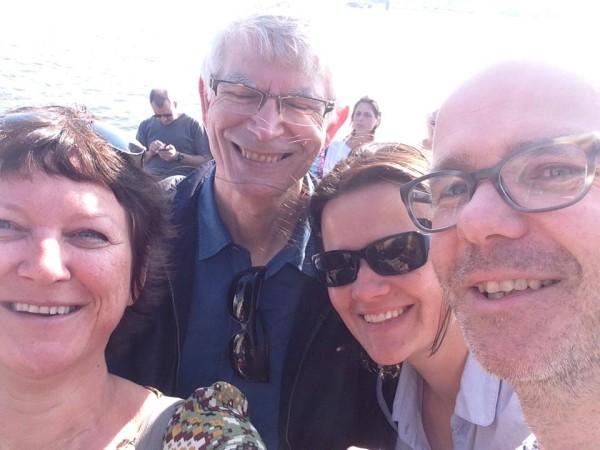 Stadsexpeditie Amsterdam met vlnr Gooitske Zijlstra, Gert Urhahn, Nynke Jutten en Herman Reezigt (foto gooitz)