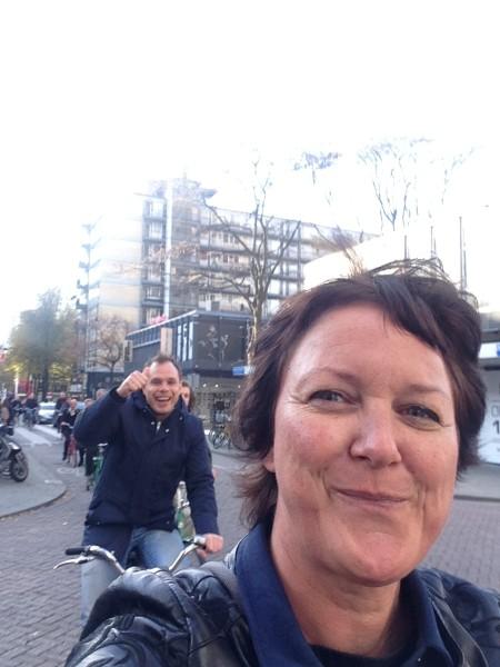 Jerry en Gooitske onderweg in Rotterdam